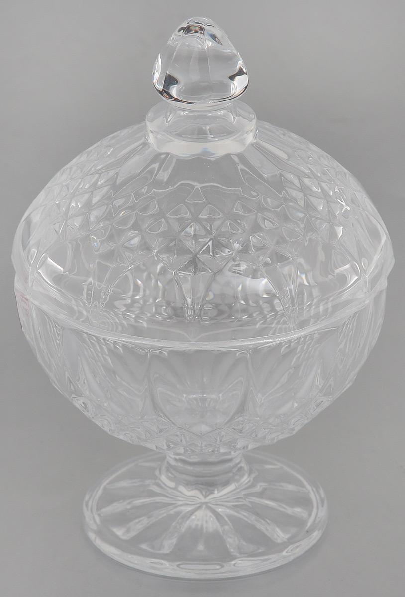 "Конфетница Cristal d'Arques ""Longchamp"", с крышкой, 10,5 х 10,5 х 8,5 см"