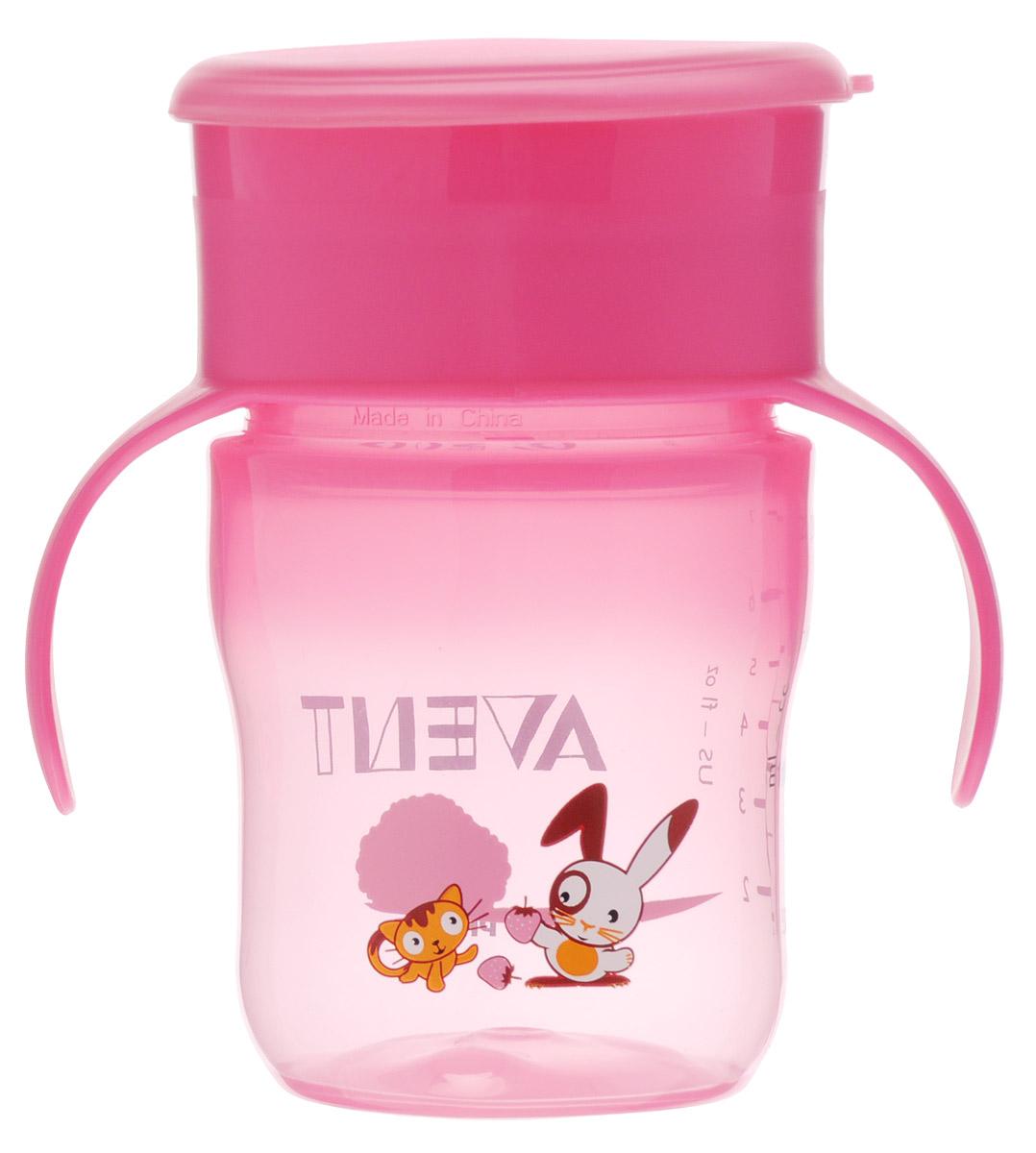 Philips Avent Чашка-поильник от 12 месяцев цвет розовый 260 млSCF782/20Чашка-поильник Philips Avent выполнена из безопасного материала: полипропилена и силиконовой резины. Мерная шкала поможет точно определить оставшееся в поильнике количество жидкости. Поильник оснащен эргономичными ручками. Малыш может пить, нажимая губами по всему краю - простой переход к обычной чашке. Защитная крышка - идеальная для использования дома или в дороге. Легко мыть, можно стерилизовать.