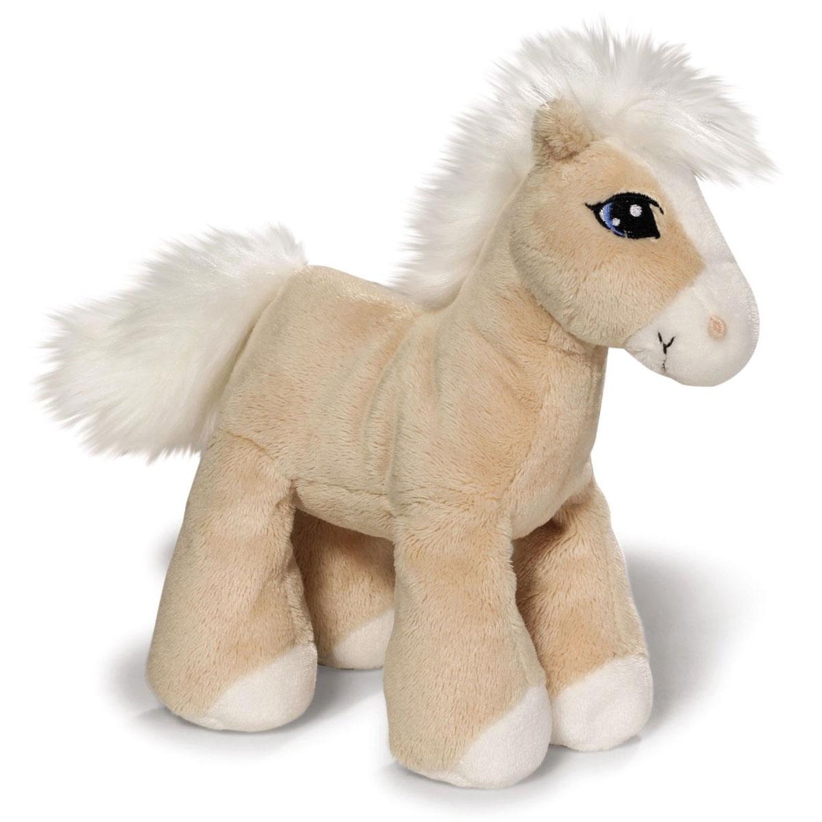 Nici Мягкая игрушка Лошадка Даймонд цвет бежевый 16 см37845Очаровательная мягкая игрушка Nici Лошадка Даймонд выполнена в виде симпатичной плюшевой лошадки. Игрушка изготовлена из высококачественного текстильного материала бежевого цвета. Игрушка невероятно мягкая и приятная на ощупь, вам не захочется выпускать ее из рук. Глазки лошадки вышиты, а хвостик и грива выполнены из искусственного меха. Удивительно мягкая игрушка принесет радость и подарит своему обладателю мгновения нежных объятий и приятных воспоминаний. Специальные гранулы, использующиеся при ее набивке, способствуют развитию мелкой моторики у малыша. Великолепное качество исполнения делают эту игрушку чудесным подарком к любому празднику. Трогательная и симпатичная, она непременно вызовет улыбку у детей и взрослых.