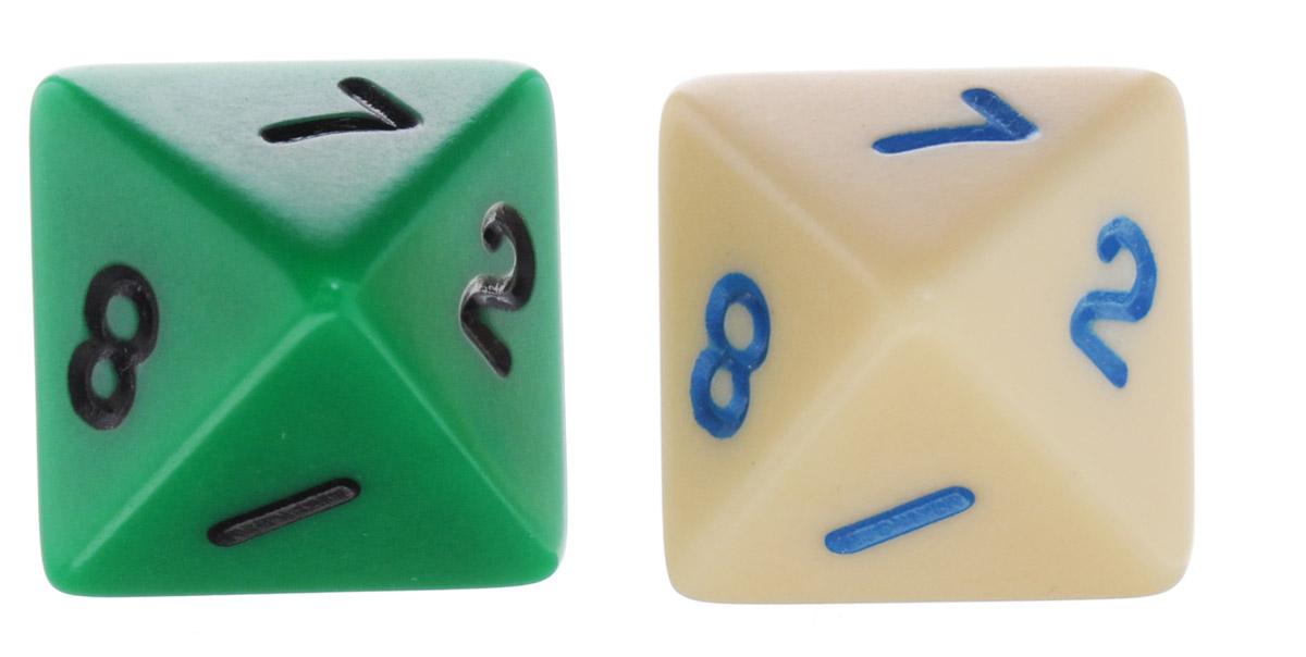 Koplow Games Набор игральных костей Простые D8 цвет бежевый зеленый 2 шт