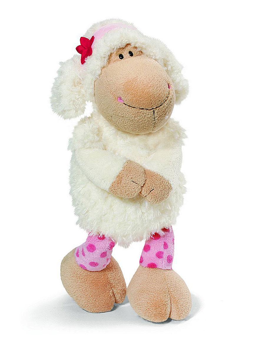 Nici Мягкая игрушка Овечка Сью 25 см35719Очаровательная мягкая игрушка Nici Овечка Сью выполнена в виде симпатичной плюшевой овечки. Игрушка изготовлена из высококачественного текстильного материала бежевого цвета. Игрушка невероятно мягкая и приятная на ощупь, вам не захочется выпускать ее из рук. Глазки у овечки пластиковые, а ротик и носик вышиты нитками. На голове у Сью текстильный пришитый ободок с красным цветочком. Удивительно мягкая игрушка принесет радость и подарит своему обладателю мгновения нежных объятий и приятных воспоминаний. Великолепное качество исполнения делают эту игрушку чудесным подарком к любому празднику. Трогательная и симпатичная, она непременно вызовет улыбку у детей и взрослых.