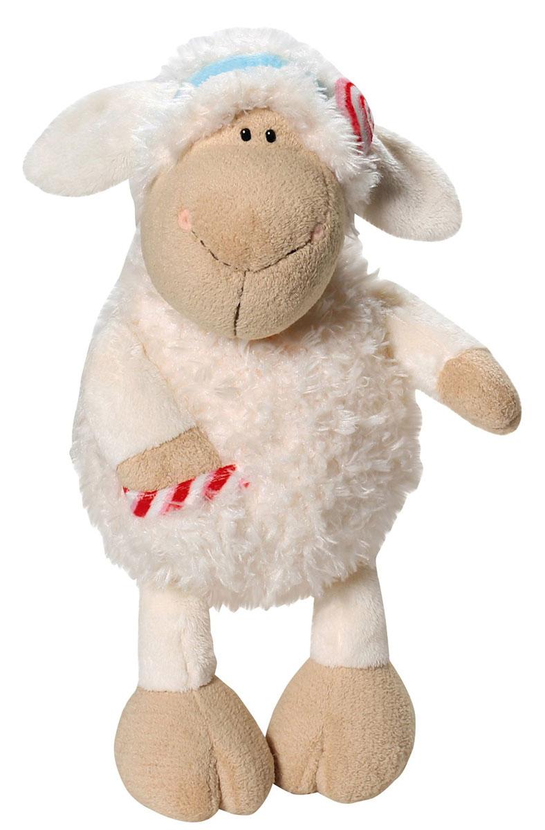 Nici Мягкая игрушка Овечка Кэнди 35 см37804Очаровательная мягкая игрушка Nici Овечка Кэнди выполнена в виде симпатичной плюшевой овечки. Игрушка изготовлена из высококачественного текстильного материала бежевого цвета. Игрушка невероятно мягкая и приятная на ощупь, вам не захочется выпускать ее из рук. Глазки у овечки пластиковые, а ротик и носик вышиты нитками. На голове у Кэнди текстильный пришитый ободок с ярким сердечком. На теле овечки имеется пришитый кармашек с вставкой из материала с шуршащим элементом. Удивительно мягкая игрушка принесет радость и подарит своему обладателю мгновения нежных объятий и приятных воспоминаний. Великолепное качество исполнения делают эту игрушку чудесным подарком к любому празднику. Трогательная и симпатичная, она непременно вызовет улыбку у детей и взрослых.