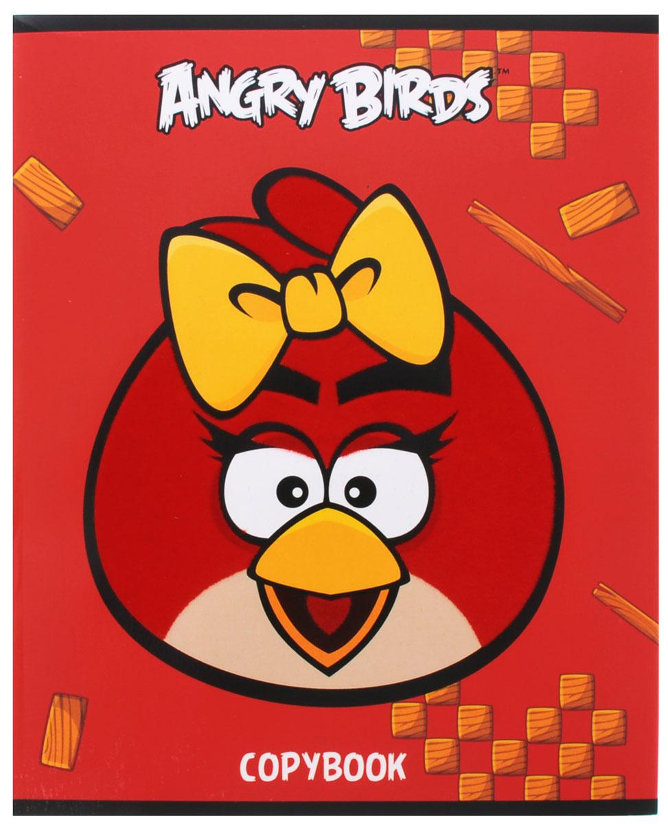Hatber Тетрадь Angry Birds 48 листов в клетку цвет красный желтый48Т5флB1_10403Тетрадь Hatber Angry Birds отлично подойдет для занятий школьнику или студенту для различных записей. Обложка, выполненная из плотного мелованного картона, позволит сохранить тетрадь в аккуратном состоянии на протяжении всего времени использования. Изделие оформлено изображением злой птички. Внутренний блок тетради, соединенный двумя металлическими скрепками, состоит из 48 листов белой бумаги в голубую клетку с полями.