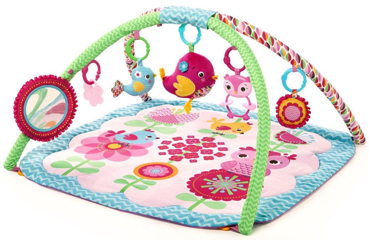 Bright Starts Развивающий коврик Птички в саду52038Маленькая девочка будет чувствовать себя очень комфортно на этом коврике! Развивающий коврик Bright Starts Птички в саду разработан для развития всех чувств ребёнка. Особенности: Мягкая игрушка-птичка проигрывает 8 мелодий; Безопасное зеркальце; Прорезыватель для зубок в виде цветочка; Совенок-погремушка; 2 мягких игрушки: птичка и цветок; Все игрушки легко крепятся к переноске, коляске. Bright Starts - это торговая марка американской компании Kids II, которая появилась на свет в 1969 году. Несмотря на давнюю широкую известность в Америке и странах Европы, для российского рынка Bright Starts относительной новый бренд. Однако, не смотря на это, он уже успел приобрести значительную популярность. Наиболее востребованные в России кресла-качалки и развивающие коврики. Эти товары призваны окружить малышей вниманием и забавлять их с первых месяцев жизни. Благодаря чему родители получают возможность выкроить...