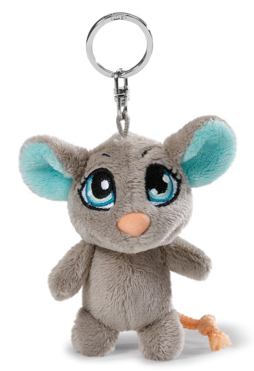 Nici Мягкая игрушка-брелок Мышка цвет серый 10 см