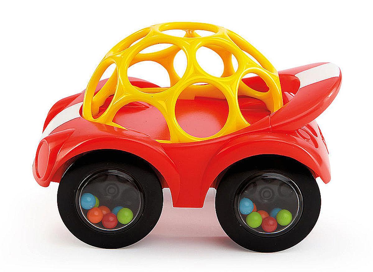 Oball Развивающая машинка-игрушка цвет красный81510-1Яркая развивающая машинка-игрушка Oball изготовлена из абсолютно безопасных для ребенка ярких материалов. Круглая крыша из гнущегося пластика вся в отверстиях, благодаря чему ее удобно катать. Мягкие рельефные детали крыши можно кусать, они успокоят нежные десна малыша. На колесах - прозрачные диски, под которыми видны разноцветные шарики. Машина едет, шарики перекатываются и задорно гремят. Такую игрушку легко хватать маленькими ручками. Развивающая машинка Oball способствует развитию цветового и звукового восприятия и мелкой моторики рук.