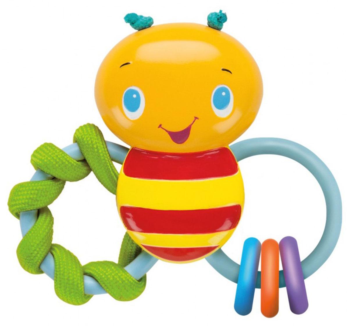 Bright Starts Развивающая игрушка-погремушка Пчелка52025Развивающая игрушка-погремушка Bright Starts Пчелка - это просто великолепный подарок для поднятия настроения ребенка. Модель выполнена в очень ярком дизайне, что мгновенно привлечет внимание любого малыша. Дизайн игрушки представляет собой погремушку в виде забавной пчелки с разноцветными колечками, которые издают веселые, звонкие звуки, дарящие малышу веселье и радость. Модель отличается своими небольшими размерами, благодаря чему любой ребенок может ее удобно держать в ручках. Новая игрушка доставит массу удовольствий малышу и создаст ему хорошее настроение.