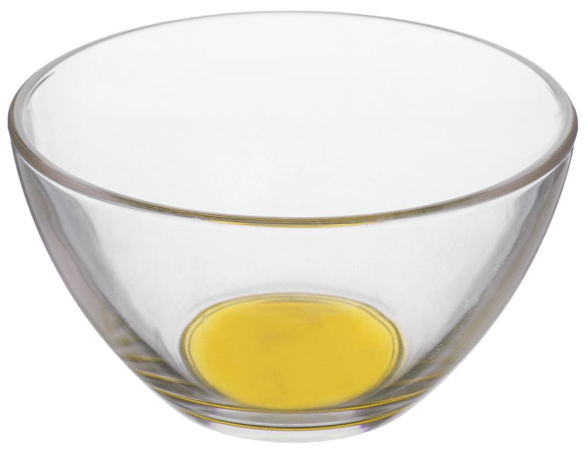 Салатник OSZ Лак микс, цвет: прозрачный, желтый, диаметр 11 см07С1322 ЛМ_желтыйСалатник OSZ Лак микс, изготовленный из стекла, имеет круглую форму. Он идеально подходит для сервировки стола. Такой салатник не только украсит ваш кухонный стол и подчеркнет прекрасный вкус хозяйки, но и станет отличным подарком. Диаметр салатника (по верхнему краю): 11 см. Высота салатника: 6 см. Объем салатника: 300 мл.
