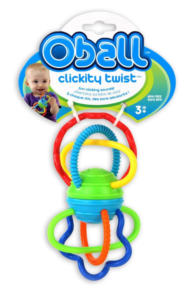 Oball Развиващая игрушка-прорезыватель Разноцветная гантелька81508Игрушка-прорезыватель Oball Разноцветная гантелька выполнена в ярком красочном дизайне и полностью безопасна для ребенка, так как не имеет острых углов и мелких деталей. Вращая шарик, расположенный в центре игрушки, слышен забавный треск, благодаря щелкающему механизму! Яркие петельки различной формы развлекут вашего малыша и помогут при прорезывании зубок! Рельефные поверхности для кусания успокоят нежные десны малыша. Игрушка-прорезыватель Oball развивает пространственное мышление, цветовое восприятие, ловкость и координацию движений. Не содержит бисфенол А.