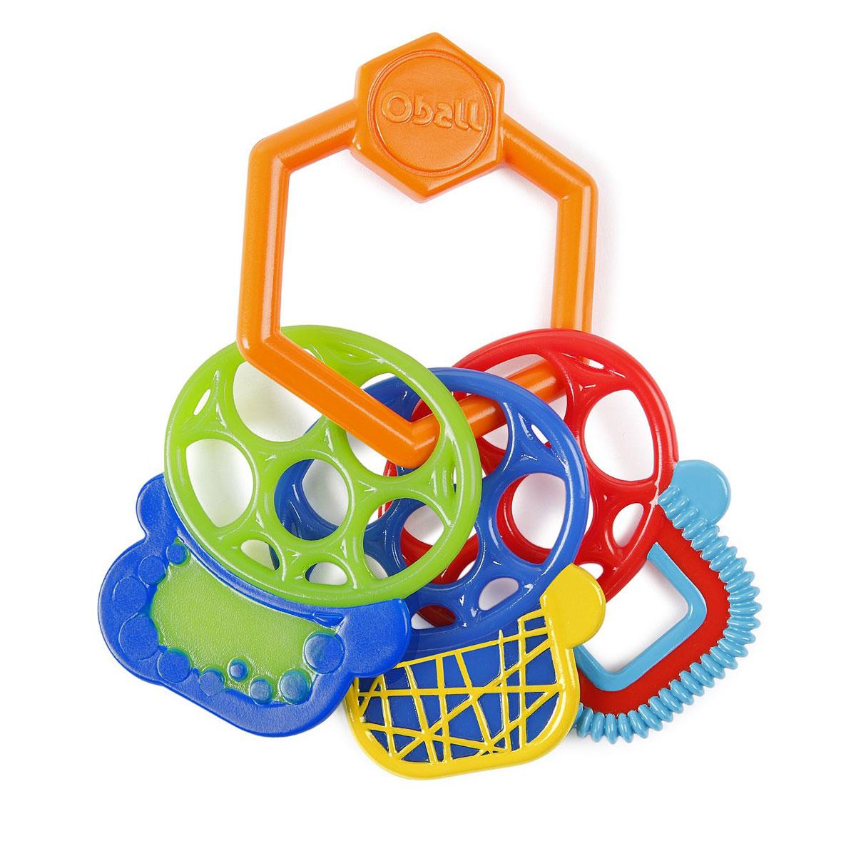Oball Прорезыватель Разноцветные ключики81523Прорезыватель Oball Разноцветные ключики выполнен в ярком красочном дизайне и полностью безопасен для ребенка, так как не имеет острых углов и мелких деталей. Прорезыватель выполнен в виде связки ключей оригинальной формы. Подвесные разнофактурные элементы изготовлены из цветного мягкого пластика. Прорезыватель удобно держать маленькими ручками. Не содержит бисфенол А.