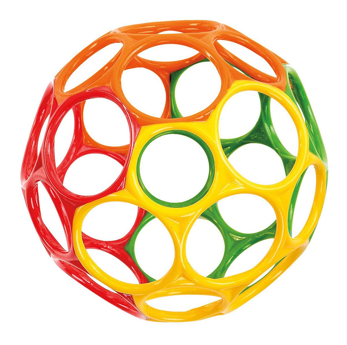 Oball Развивающая игрушка Мячик цвет красный зеленый желтый81061Игрушка развивающая Oball Мячик станет для вашего ребенка любимой игрушкой. Мячик выполнен из мягкого пластика ярких цветов. Мяч имеет множество отверстий для пальчиков, что делает его легким и позволяет даже самому маленькому крохе поднимать и удерживать игрушку. Его можно растягивать и сжимать, тренируя ручки ребенка и развивая мелкую моторику. Оригинальность материала и формы создают новый необычный инструмент для развития малыша, а положительные эмоции только усилят эффект.