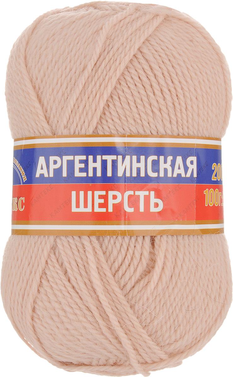 Пряжа для вязания Камтекс Аргентинская шерсть, цвет: светло-бежевый (006), 200 м, 100 г, 10 шт136071_006Пряжа для вязания Камтекс Аргентинская шерсть - это стопроцентная импортная шерсть, которая отличается прочностью и гладкостью. Даже при взгляде на моток, сразу видно, что вещи из этой пряжи будут выглядеть дорого. Изделия не скатываются и не деформируются. Пряжа очень легка в работе, даже при роспуске полотна, она не цепляется, и не путается. Ниточка безумно теплая и уютная, отлично подходит для нашей морозной зимы. Даже ажурные шапки и шарфы при всей своей тонкости будут самыми надежными защитниками от снега и сильного ветра. Очень хорошо смотрятся из этой шерсти узоры из кос и жгутов. Рекомендуются спицы и крючки для вязания 3-5 мм. Состав: 100% шерсть.