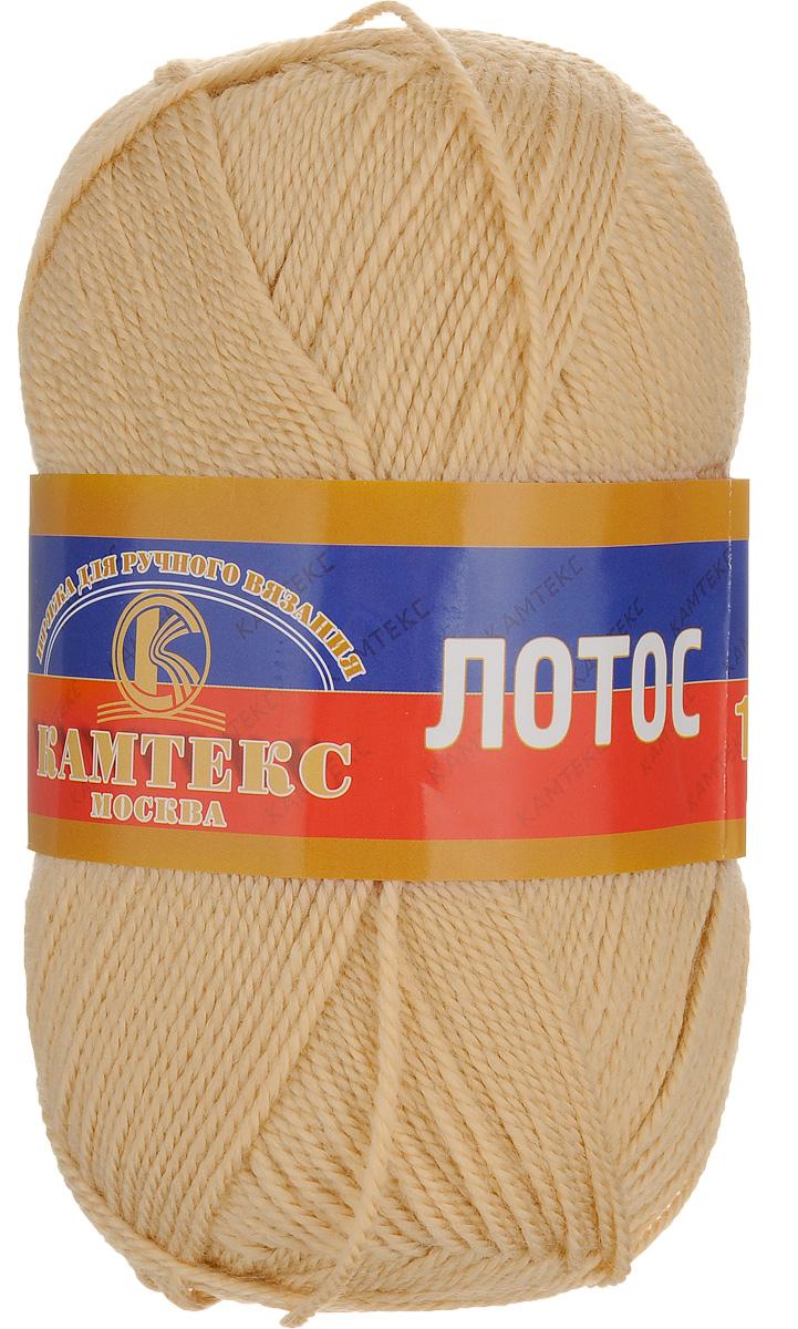 Пряжа для вязания Камтекс Лотос, цвет: бежевый (006), 300 м, 100 г, 10 шт136083_006Пряжа для вязания Камтекс Лотос изготовлена из 100% акрила. Пряжа имеет приятную мягкость, вяжется очень легко, совершенно не путаясь. По своим свойствам акриловая нить близка к шерсти. Только, в отличие от шерсти, она приятна для тела, совсем не колется, не раздражает кожу, подходит даже для детей. Существует вероятность, что изделие может слегка растянуться, но этого можно избежать деликатным обращением и плотной вязкой. Пряжа Камтекс Лотос подходит для вязания крючками и спицами, хорошо получаются любые виды узоров. Идеальный вариант для вязания демисезонных головных уборов, жакетов, свитеров, болеро, детской одежды. Пряжа имеет приятный благородный блеск. Богатая цветовая палитра - смелые и насыщенные оттенки. Рекомендуемый размер крючка и спиц 3-5 мм. Состав: 100% акрил. Комплектация: 10 шт. Толщина нити: 1,5 мм.