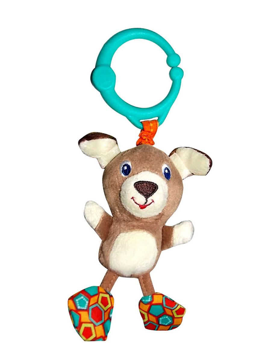 Bright Starts Развивающая игрушка Дрожащий дружок Собачка8808-5Развивающая игрушка Bright Starts Дрожащий дружок: Собачка - красочная подвеска, которую можно взять с собой на прогулку. Игрушка выполнена из приятных на ощупь материалов разнообразной структуры. Собачка поможет развить у вашего ребенка концентрацию внимания. Нужно только потянуть за игрушку, и она задрожит на радость малышу!