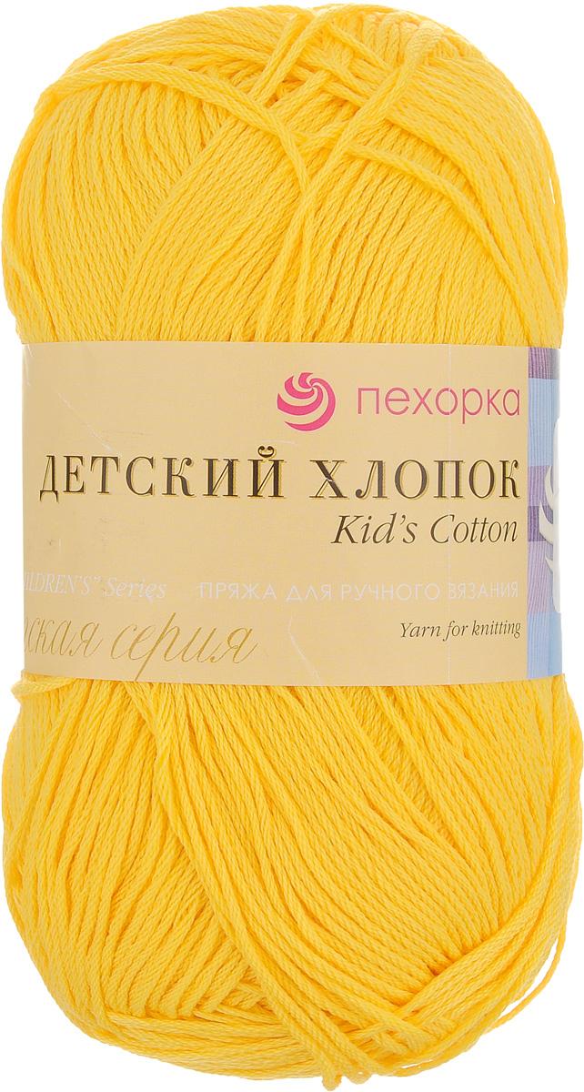 Пряжа для вязания Пехорка Детский хлопок, цвет: желток (12), 330 м, 100 г, 5 шт360078_12_12 желтокПряжа для ручного вязания Пехорка Детский хлопок, изготовленная из 100% мерсеризованного хлопка, состоит из нитей, скрученных шнурочком. Она легко вяжется и не вызывает аллергии. Изделия, связанные из такой пряжи, отлично пропускают воздух, мягкие, комфортные и нарядные за счет ярких и насыщенных цветов. Рекомендуются спицы №5. Состав: 100% мерсеризованный хлопок. Комплектация: 5 мотков.