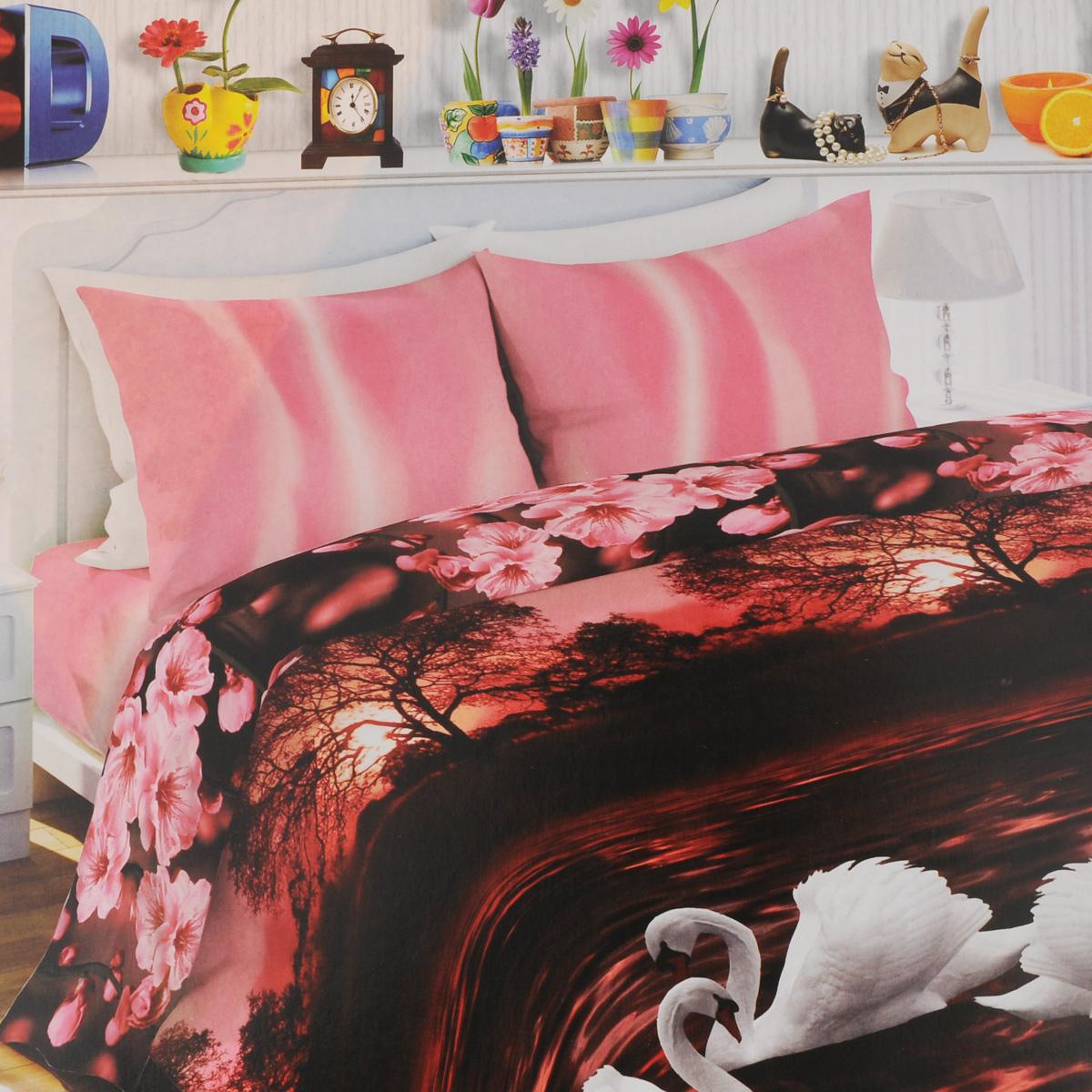 Комплект белья Любимый дом Лебединая верность, 1,5-спальный, наволочки 70х70, цвет: черно-розовый, белый326133Комплект постельного белья Любимый дом Лебединая верность состоит из пододеяльника, простыни и двух наволочек. Постельное белье оформлено оригинальным рисунком и имеет изысканный внешний вид. Белье изготовлено из новой ткани Биокомфорт, отвечающей всем необходимым нормативным стандартам. Биокомфорт - это ткань полотняного переплетения, из экологически чистого и натурального 100% хлопка. Неоспоримым плюсом белья из такой ткани является мягкость и легкость, она прекрасно пропускает воздух, приятна на ощупь, не образует катышков на поверхности и за ней легко ухаживать. При соблюдении рекомендаций по уходу, это белье выдерживает много стирок, не линяет и не теряет свою первоначальную прочность. Уникальная ткань обеспечивает легкую глажку. Приобретая комплект постельного белья Любимый дом Лебединая верность, вы можете быть уверены в том, что покупка доставит вам и вашим близким удовольствие и подарит максимальный...