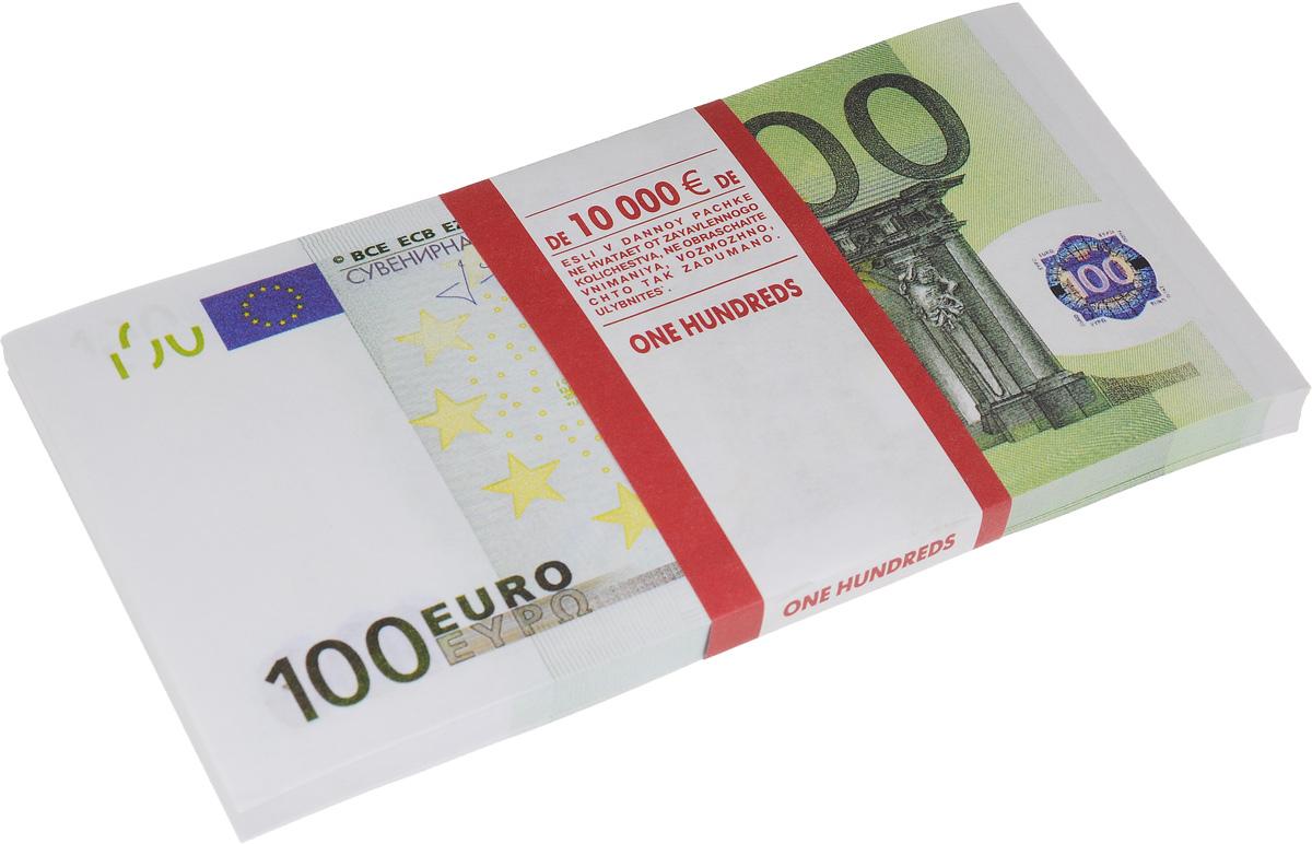 Сувенир денежный Принт Торг Забавная пачка 100 евро15.009.01Денежный сувенир Принт Торг Забавная пачка 100 евро выполнен из высококачественной бумаги в виде купюр. Каждая купюра номиналом 100 евро выглядит как настоящая. Такой сувенир отлично подойдет для различных конкурсов и розыгрышей и станет отличным подарком для человека, ценящего чувство юмора. В пачке 85-95 купюр. Размер купюры: 15,5 х 7,5 см.