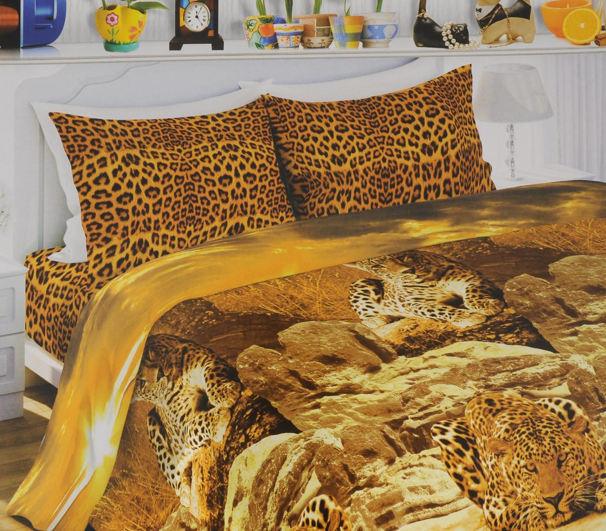 Комплект белья Любимый дом Африканский леопард, 1,5-спальный, наволочки 70х70, цвет: коричневый, оранжевый, бежевый326134Комплект постельного белья Любимый дом Африканский леопард состоит из пододеяльника, простыни и двух наволочек. Постельное белье оформлено оригинальным рисунком и имеет изысканный внешний вид. Белье изготовлено из новой ткани Биокомфорт, отвечающей всем необходимым нормативным стандартам. Биокомфорт - это ткань полотняного переплетения, из экологически чистого и натурального 100% хлопка. Неоспоримым плюсом белья из такой ткани является мягкость и легкость, она прекрасно пропускает воздух, приятна на ощупь, не образует катышков на поверхности и за ней легко ухаживать. При соблюдении рекомендаций по уходу, это белье выдерживает много стирок, не линяет и не теряет свою первоначальную прочность. Уникальная ткань обеспечивает легкую глажку. Приобретая комплект постельного белья Любимый дом Африканский леопард, вы можете быть уверены в том, что покупка доставит вам и вашим близким удовольствие и подарит максимальный...