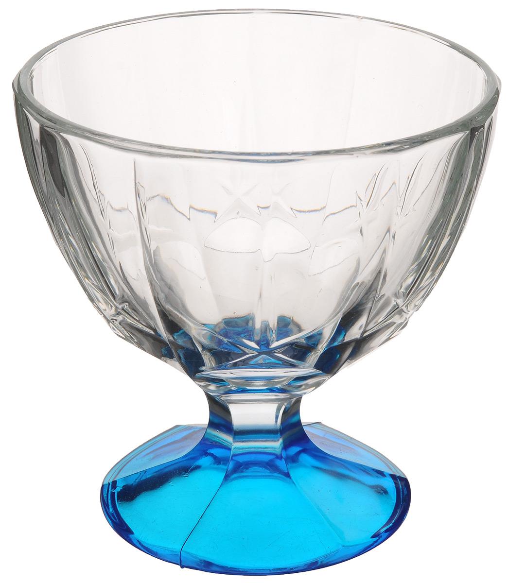 Креманка ОСЗ Звезда, цвет: синий, прозрачный, 230 мл03С1057 ЛМ_синийКреманка ОСЗ Звезда выполнена из высококачественного натрий-кальций-силикатного стекла. Изделие украшено изысканным узором в виде звезд. Ножка креманки окрашена, что подчеркивает ее изящность. Подходит для сервировки различных десертов: шариков мороженого, пудингов, желе и другого. Такая креманка красиво дополнит сервировку стола и поможет красиво преподнести сладкое блюдо. Высота: 10 см. Диаметр по верхнему краю: 10 см. Диаметр основания: 7 см. Объем: 230 мл.