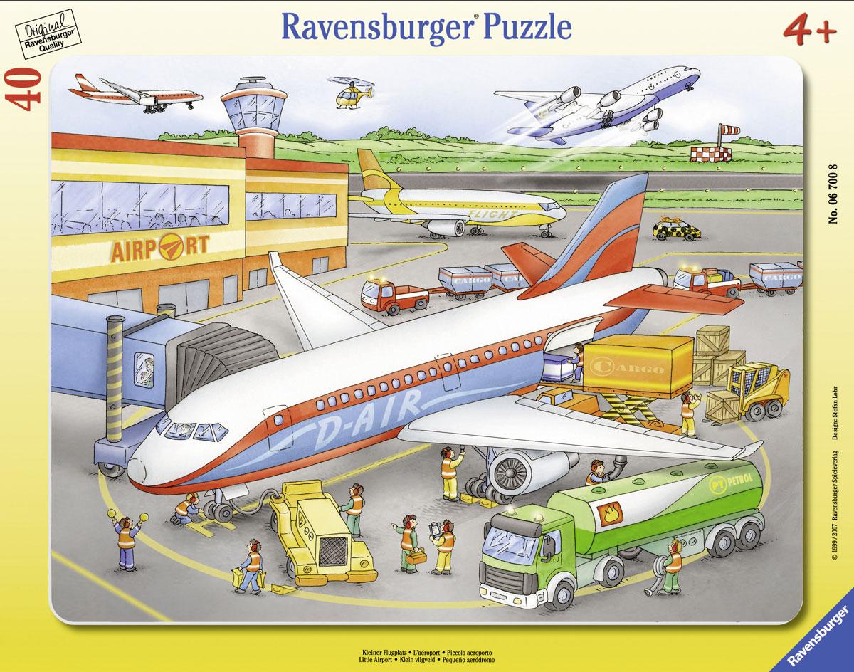 Ravensburger Пазл для малышей Маленький аэропорт06700Пазл для малышей Ravensburger Маленький аэропорт включает 40 элементов, из которых ваш ребенок сможет собрать яркую картинку с изображением аэропорта. В комплекте предусмотрена рамка, которой малыш может воспользоваться в процессе работы или для того, чтобы повестить готовую картинку на стену. Элементы пазла имеют разный размер; для каждого предусмотрено свое место. Пазлы - прекрасное антистрессовое средство для взрослых и замечательная развивающая игра для детей. Собирание пазла развивает у ребенка мелкую моторику рук, тренирует наблюдательность, логическое мышление, знакомит с окружающим миром, с цветом и разнообразными формами, учит усидчивости и терпению, аккуратности и вниманию. Собирание пазла - прекрасное времяпрепровождение для всей семьи.