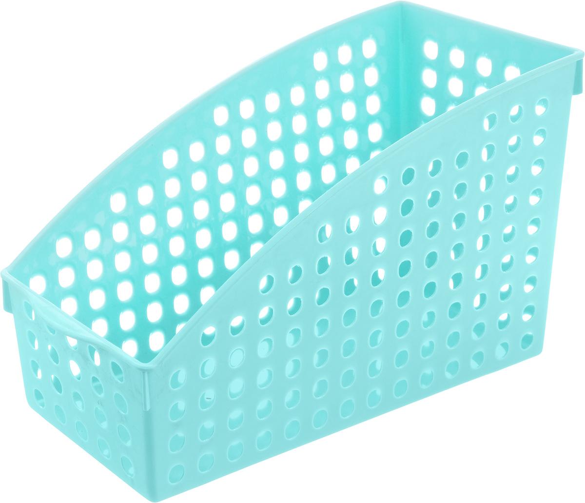 Корзина для мелочей Sima-land Трапеция, цвет: светло-голубой, 25 х 10,5 х 15,7 см799927_св. голубойКорзина для мелочей Sima-land Трапеция, изготовленная из высококачественного пластика, предназначена для хранения мелочей в ванной, на кухне, даче или офисе. Эта легкая корзина со сплошным дном и перфорированными стенками позволяет хранить мелкие вещи, исключая возможность их потери.