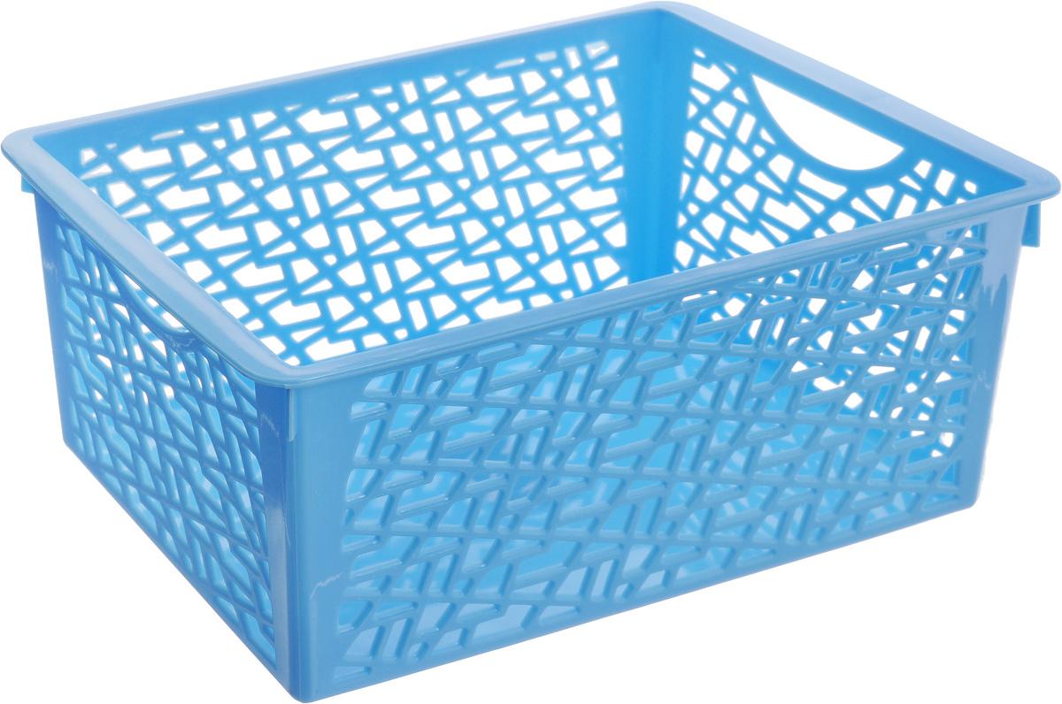 Корзина Sima-land Геометрия, цвет: голубой, 24,5 х 15 х 10,5 см799917_голубойКорзина Sima-land Геометрия, изготовленная из высококачественного прочного пластика, предназначена для хранения мелочей в ванной, на кухне, даче или гараже. Изделие оснащено небольшими ручками-отверстиями для переноски. Это легкая корзина со сплошным дном, жесткой кромкой и небольшими отверстиями в виде геометрических фигур, которая позволяет хранить мелкие вещи, исключая возможность их потери.