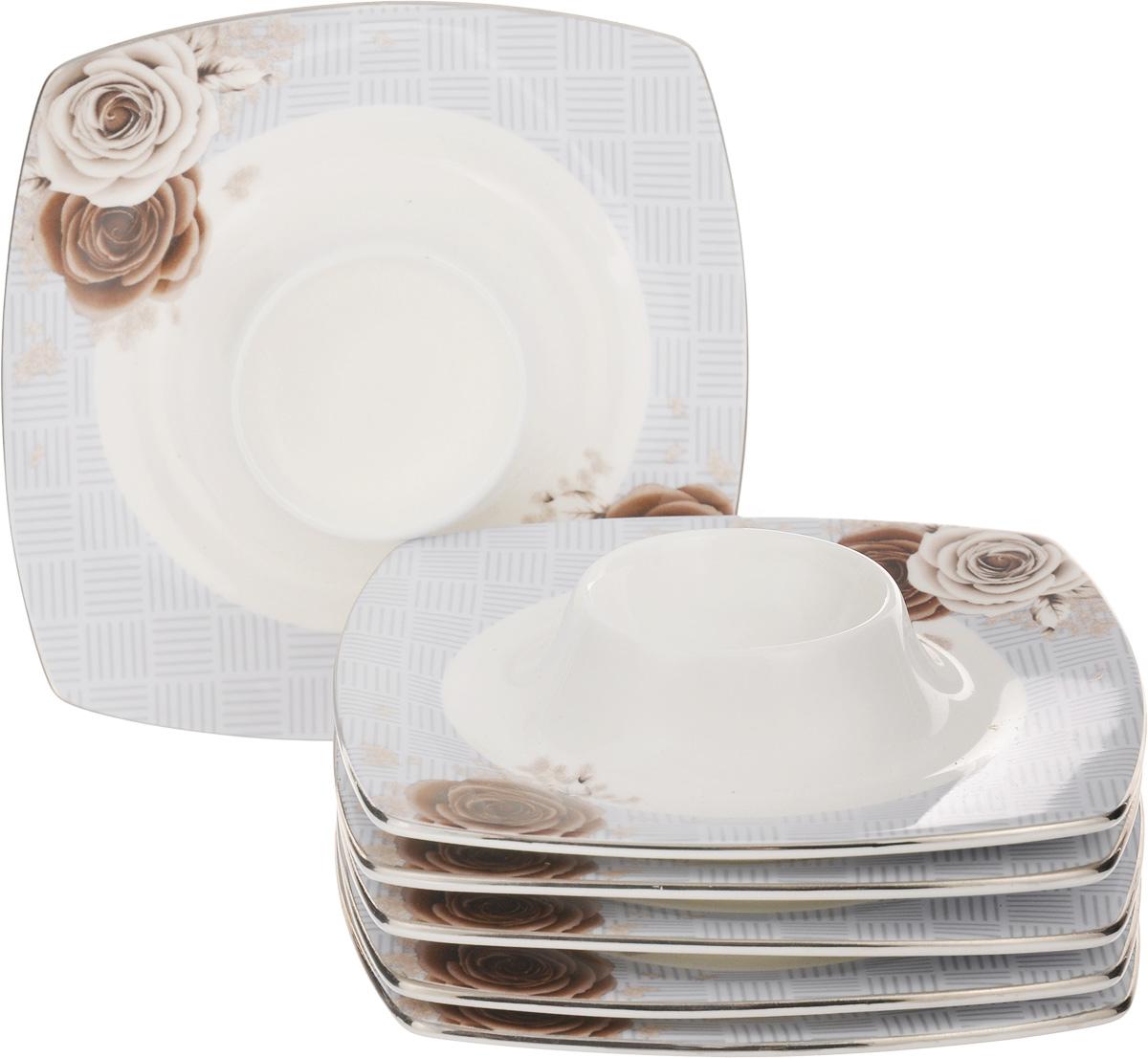 Набор подставок под яйцо Family & Friends Дэниш, 12 х 12 см, 6 штPR8003нНабор Family & Friends Дэниш, выполненный из фарфора, состоит из 6 квадратных подставок, предназначенных для красивой подачи яиц. Изделия украшены цветочным рисунком. Набор сочетает в себе стильный дизайн с максимальной функциональностью. Оригинальность оформления придется по вкусу и ценителям классики, и тем, кто предпочитает утонченность и изящность. Диаметр отверстия для яйца: 4,5 см. Размер подставки: 12 х 12 х 1,5 см.