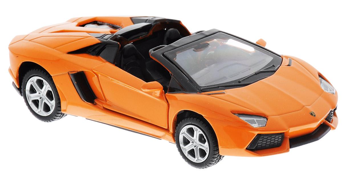 ТехноПарк Модель автомобиля Lamborghini Aventador LP 700-4 цвет оранжевый67320_оранжевыйМодель автомобиля ТехноПарк Lamborghini Aventador LP 700-4, выполненная из металла, пластика и резины, станет любимой игрушкой вашего малыша. Игрушка представляет собой модель автомобиля Lamborghini Aventador LP 700-4 в масштабе 1:43. Дверцы модели открываются, а прорезиненные колеса обеспечивают надежное сцепление с любой поверхностью пола. Модель оснащена инерционным ходом: достаточно немного отвести ее назад, а затем отпустить - машинка быстро поедет вперед. Ваш ребенок будет часами играть с этой машинкой, придумывая различные истории. Порадуйте его таким замечательным подарком!