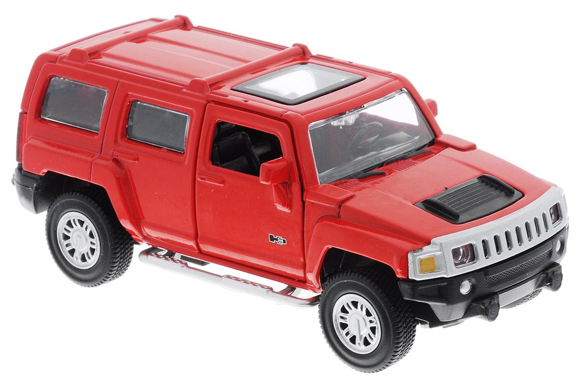 ТехноПарк Модель автомобиля Hummer H3 цвет красный67301_красныйМодель автомобиля ТехноПарк Hummer H3 - это точная копия оригинальной машины в масштабе 1:43. Выполненная из высококачественных материалов, она обязательно понравится не только ребенку, но и взрослому. Игрушечная модель оснащена металлическим корпусом и подвижными колесами. Передние двери машинки открываются, салон детализирован. Игрушка оснащена инерционным ходом. Для того чтобы автомобиль поехал вперед, необходимо его отвести назад, а затем резко отпустить. Прорезиненные колеса обеспечивают надежное сцепление с любой поверхностью пола. Машинка является отличным подарком для юного гонщика. Во время игры с такой машинкой у ребенка развиваются мелкая моторика рук, фантазия и воображение.