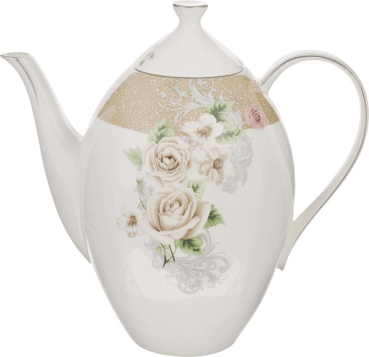 Чайник заварочный Family & Friends Florance, 1,3 лPR7994Заварочный чайник Family & Friends Florance изготовлен из фарфора и оформлен оригинальным цветочным узором. Такой чайник прекрасно дополнит сервировку стола к чаепитию и станет его неизменным атрибутом. Объем: 1,3 л. Диаметр (по верхнему краю): 6 см. Высота стенки (без учета крышки): 17 см.