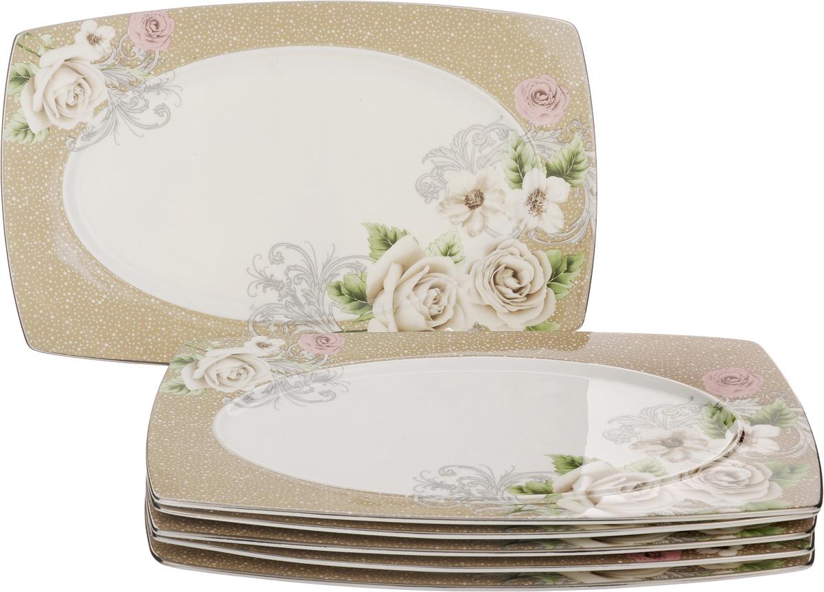 Набор блюд для нарезки Family & Friends Florance, 25 x 15,5 см, 6 штPR7998нНабор Family & Friends Florance, выполненный из фарфора, состоит из 6 плоских прямоугольных блюд, предназначенных для красивой сервировки различных нарезок. Изделия украшены цветочным рисунком. Такое блюдо украсит сервировку вашего стола и подчеркнет прекрасный вкус хозяйки. Внутренний размер блюда: 11 х 20 см. Размер блюда: 25 х 15,5 х 1 см.