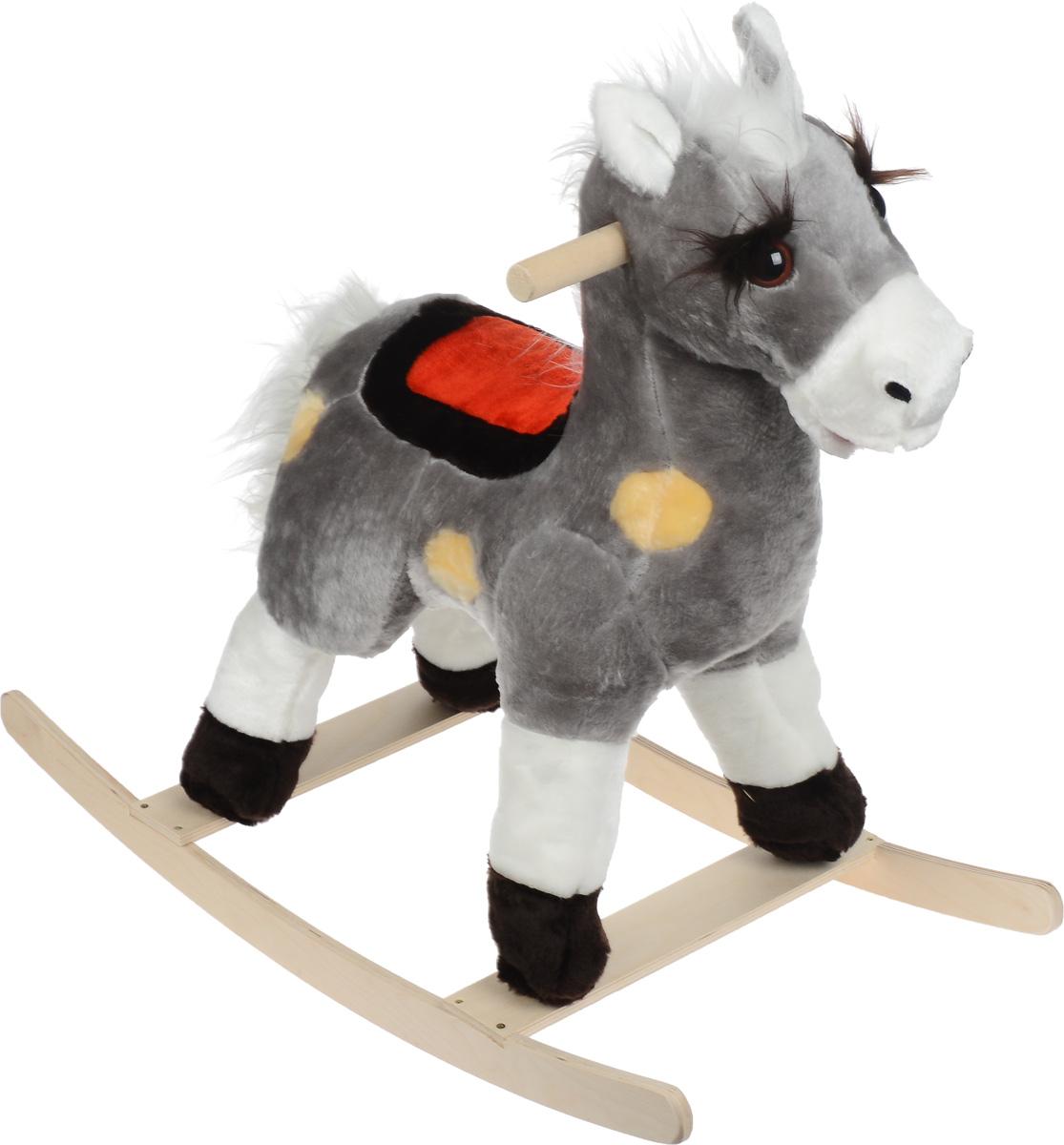 СмолТойс Игрушка-качалка Лошадь цвет серый