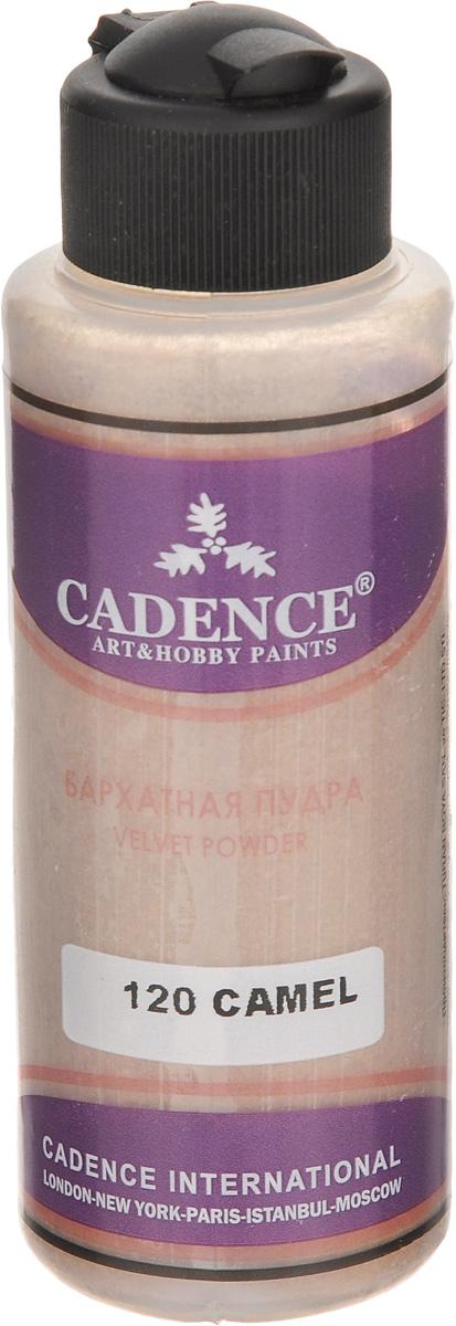 Пудра с эффектом бархата Cadence, цвет: верблюжья шерсть, 120 мл01211-120Пудра Cadence предназначена для создания эффекта бархатистой поверхности. Заготовку подготавливают, окрашивают в фоновый цвет, схожий с цветом пудры. После высыхания краски нанесите клей для декупажа и сразу на эту поверхность из тонкого носика (которым снабжен тюбик) распылите пудру. Пудра сама равномерно ложится на клей, руками пудру прижимать не рекомендуется. После высыхания клея для декупажа стряхнуть лишнее с изделия. Дополнительной обработки финишными лаками не требуется. Пудрой можно декорировать как внешние поверхности, так и внутренние стороны, например, шкатулок.