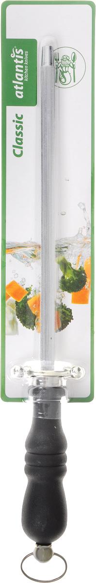 Мусат Atlantis Classic, 32 см24319-SKМусат для ножей Atlantis Classic изготовлен из нержавеющей стали. Мусат с удобной эргономичной пластиковой ручкой, с особой формой режущей кромки и специальной заточкой лезвия будет долгожданным дополнением к любой кухне. У профессионалов мусат пользуется большим уважением и спросом. Опытные повара правят ножи по принципу нож об нож, выправляя завернувшуюся или притупившуюся режущую кромку одного ножа об одно из ребер другого. Мусат же является неким собранием таких ребер на одном прутке. Длина прутка: 20 см. Длина ручки: 12 см.