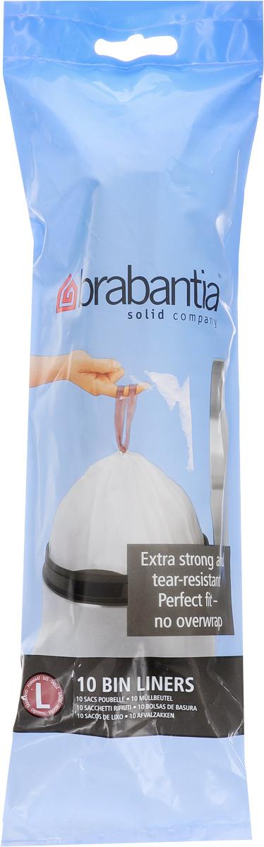 Пакеты для мусора Brabantia, 45 л, 10 шт371547Одноразовые пакеты Brabantia, выполненные из пластика, предназначены для мусорного бака. Предотвращают загрязнение бака, удобны в использовании. Затяжная лента позволяет быстро и легко сменить пакет для мусора: просто потяните за ленту, она аккуратно запечатает горловину мешка и превратится в крепкие ручки.