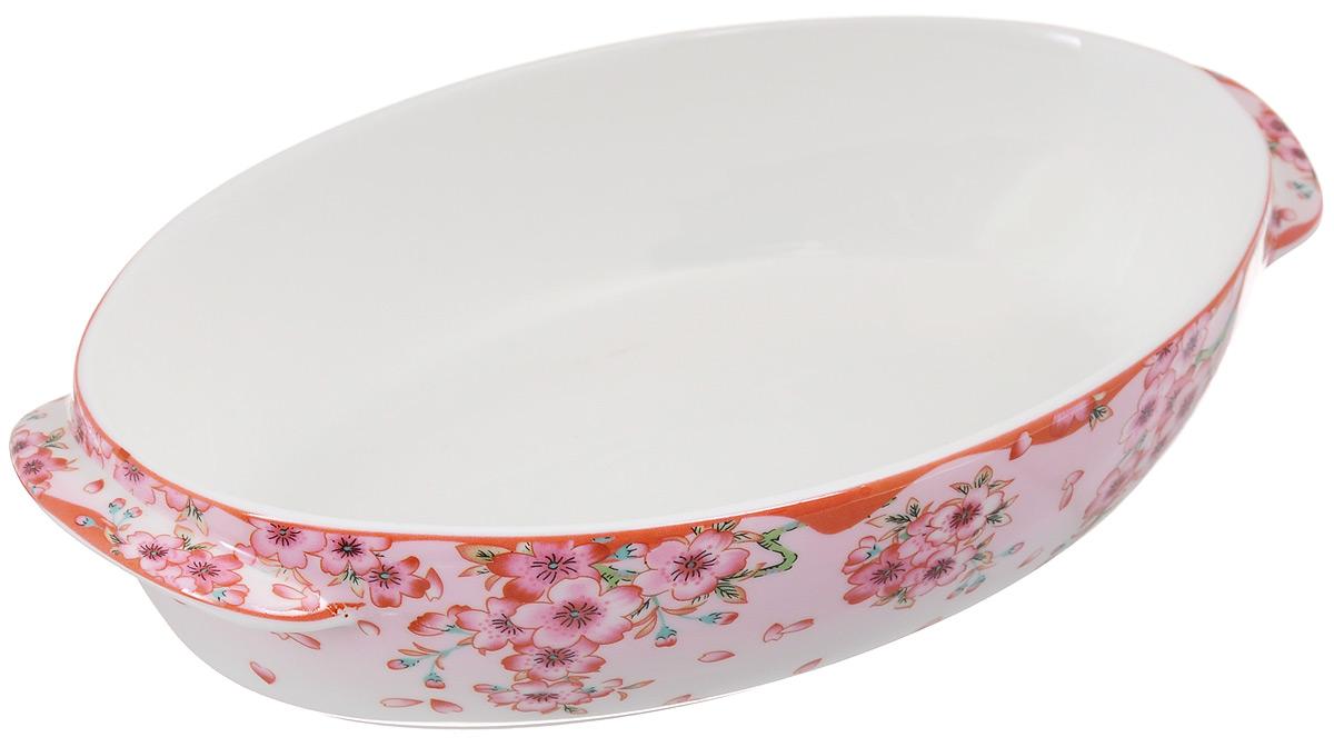 Блюдо для запекания и сервировки Elan Gallery Сакура, 24,5 х 14,5 см503979Блюдо для запекания Elan Gallery Сакура, изготовленное из керамики, идеально подойдет как для запекания, так и для последующей сервировки. Размер этого блюда подходит и для подачи горячего, и для приготовления и хранения слоеных салатов. Оно станет отличным дополнением к вашему кухонному инвентарю и подчеркнет прекрасный вкус хозяйки. Можно использовать в микроволновой печи. Размер (по верхнему краю): 24,5 х 14,5 см. Высота стенки: 5 см.