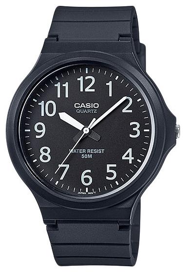 Часы наручные Casio, цвет: черный, черный. MW-240-1BMW-240-1B