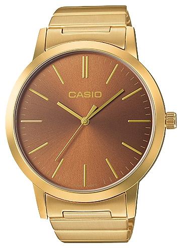 Часы наручные женскиие Casio, цвет: золотой, золотистый. LTP-E118G-5ALTP-E118G-5A