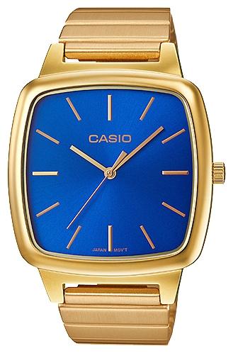 Часы наручные женскиие Casio, цвет: золотой, синий. LTP-E117G-2ALTP-E117G-2A