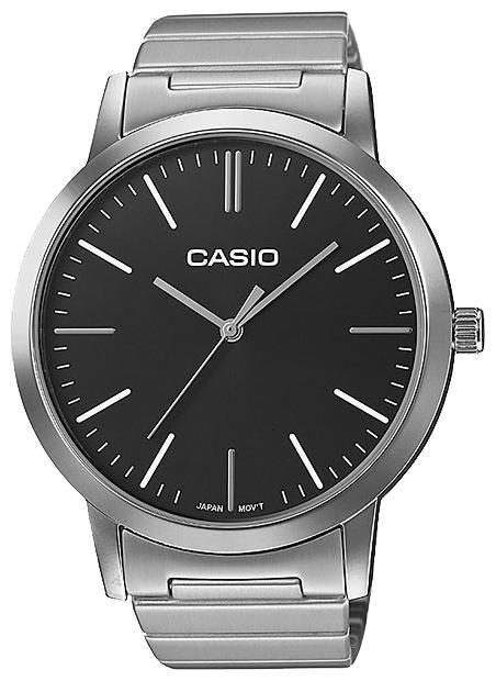 Часы наручные женскиие Casio, цвет: стальной, черный. LTP-E118D-1ALTP-E118D-1A