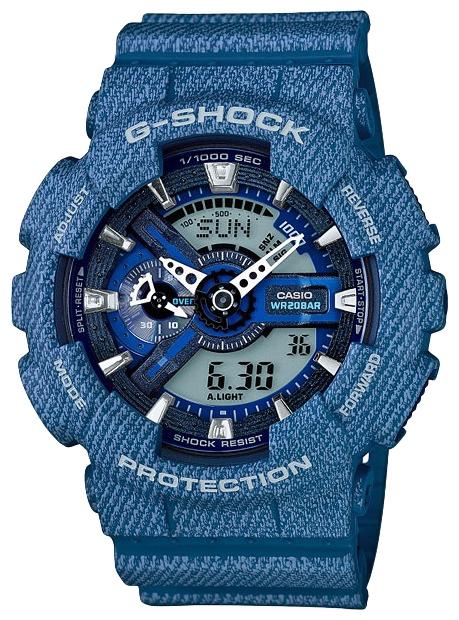 Часы наручные мужские Casio, цвет: джинс. GA-110DC-2AGA-110DC-2A