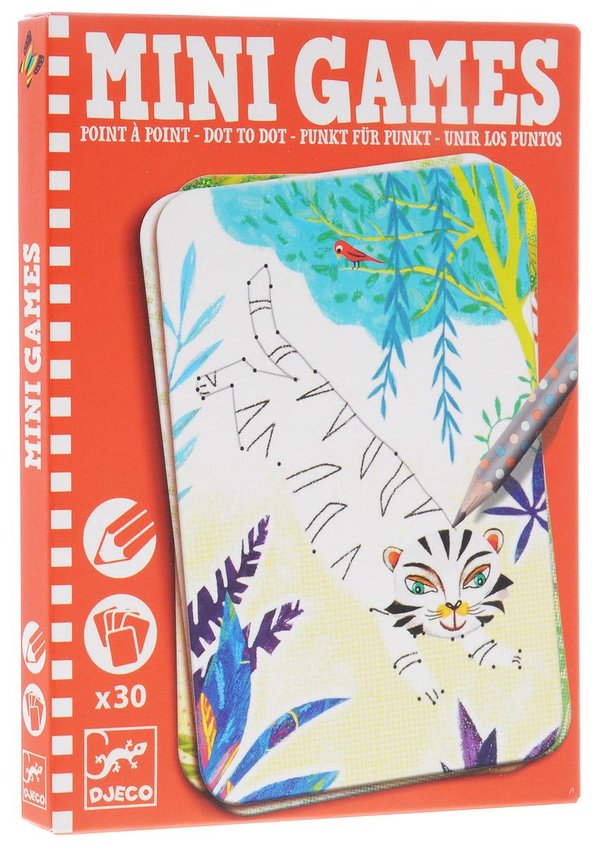 Djeco Мини-игра Соедини точки: Элиза05336Мини-игра Соедини точки: Элиза от французской компании Djeco - увлекательная карточная игра для детей в удобном компактном формате, которая прекрасно подходит для путешествий. Цель игры - последовательно соединить точки так, чтобы получилась красивая картинка. Двигаться от точки к точке необходимо очень аккуратно и внимательно, в таком случае у ребенка получится картинка с изображением забавного зверька. В комплект игры входят 30 карточек и заточенный чернографитный карандаш с ластиком на конце, которым малыш сможет рисовать, стирая при необходимости. Фирма Djeco - это гарантия высокого качества, широкий выбор товаров для гармоничного развития ребенка, над дизайном и иллюстрациями работают опытные детские психологи и дизайнеры. Рекомендуемый возраст: от 6 до 10 лет.