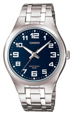 Часы наручные мужские Casio, цвет: стальной, белый. MTP-1310PD-2BMTP-1310PD-2B