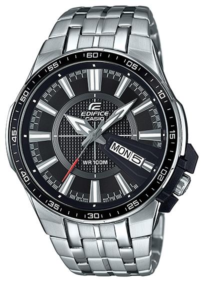 Часы наручные мужские Casio, цвет: стальной, черный. EFR-106D-1AEFR-106D-1A
