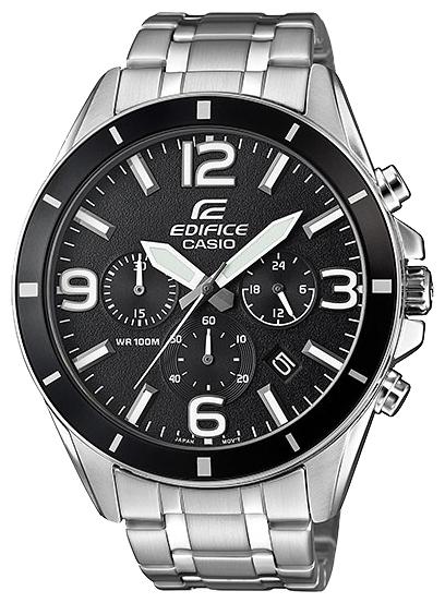 Часы наручные мужские Casio, цвет: стальной, черный. EFR-553D-1BEFR-553D-1B