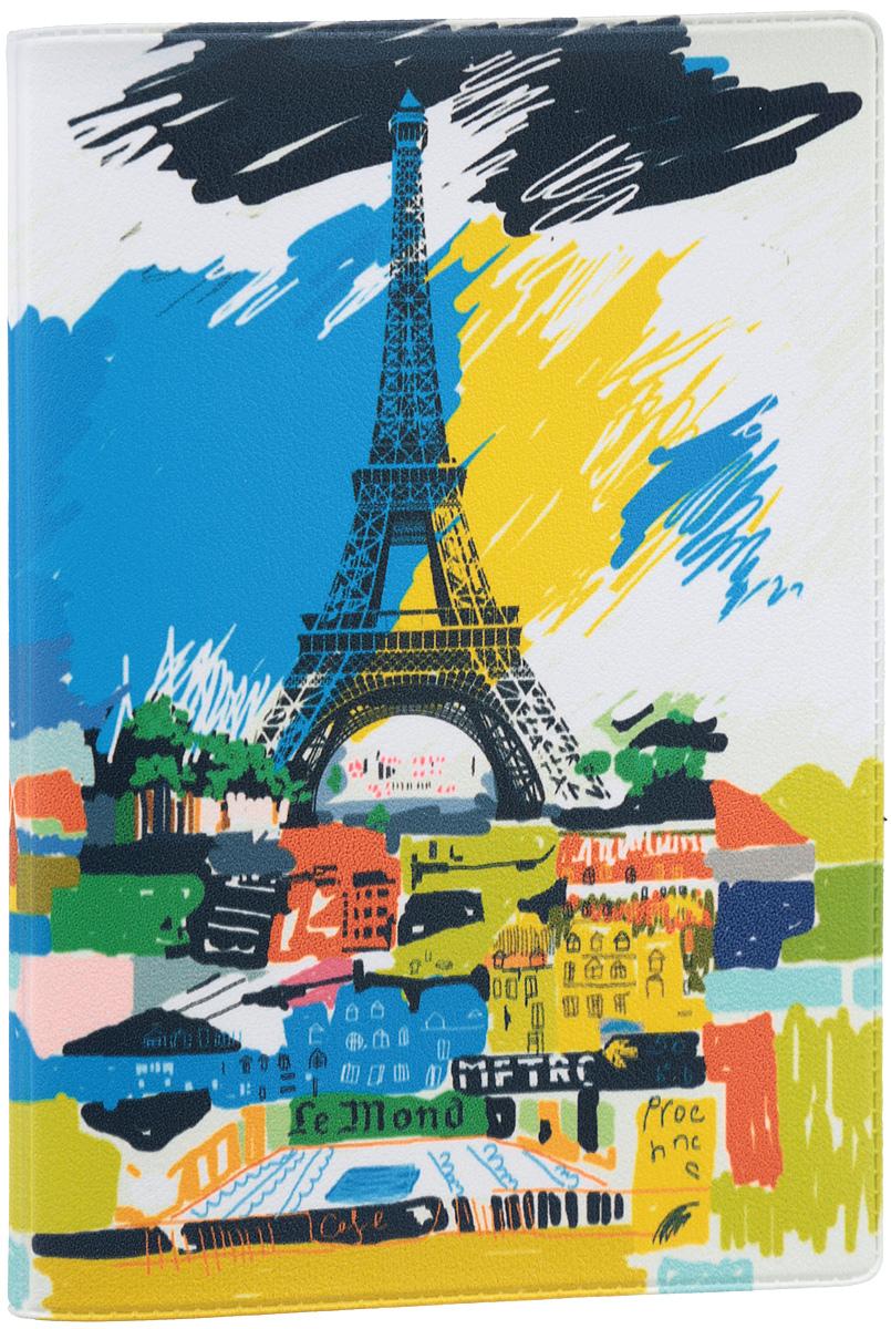 Обложка для паспорта Mitya Veselkov Париж в красках, цвет: синий, белый, желтый. OZAM195OZAM195Обложка для паспорта Mitya Veselkov Париж в красках не только поможет сохранить внешний вид ваших документов и защитить их от повреждений, но и станет стильным аксессуаром, идеально подходящим вашему образу. Обложка выполнена из поливинилхлорида и оформлена ярким изображением Эйфелевой башни на фоне города. Внутри имеет два вертикальных кармана из прозрачного пластика. Такая обложка поможет вам подчеркнуть свою индивидуальность и неповторимость! Обложка для паспорта стильного дизайна может быть достойным и оригинальным подарком.