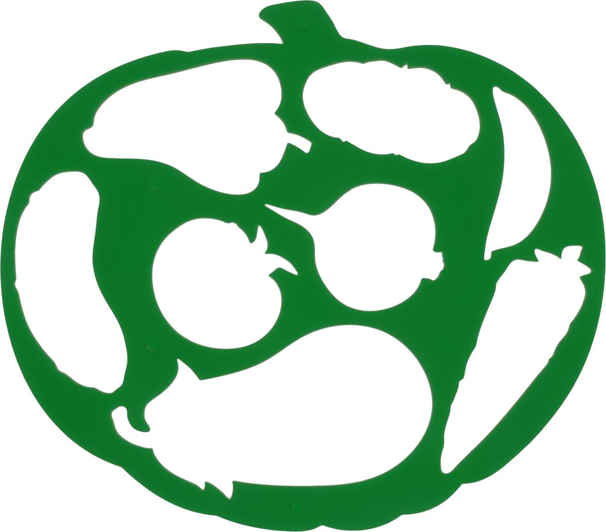 Трафарет фигурный Луч Тыква и овощи, цвет: зеленый17С 1149-08_зеленыйТрафарет фигурный Луч Тыква и овощи, выполненный из высококачественного пластика, предназначен для детского творчества. С помощью такого трафарета ребенок может нарисовать большую тыкву и создать свою интересную композицию из овощей: огурца, перца, помидора, баклажана, моркови, гороха, картофеля и репы. Изделие применяется для создания композиций и аппликаций, а также для рисования красками. Трафареты предназначены для развития у детей мелкой моторики и зрительно- двигательной координации, навыков художественного и зрительного восприятия.