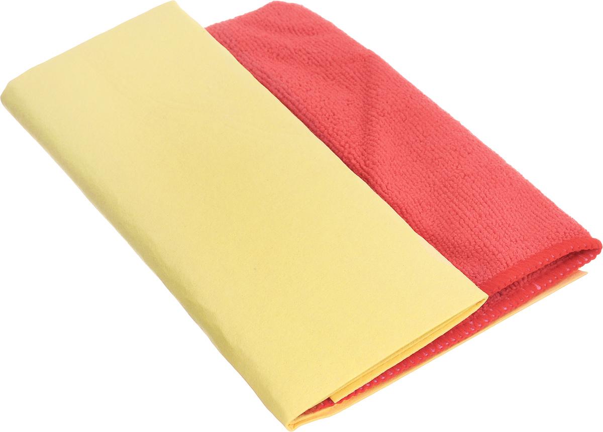 Набор салфеток для ухода за автомобилем Pingo, цвет: желтый, красный, 2 шт5837_желтый, красныйНабор Pingo включает две салфетки из синтетической замши и микрофибры. Салфетка из синтетической замши идеально подходит для протирки мокрых лакокрасочных и хромированных поверхностей, стекол и поверхностей из искусственных материалов, для чистки приборной панели автомобиля. Махровая салфетка из микрофибры предназначена для полировки кузова автомобиля, для чистки лобового стекла, пластика и хрома, обивки сидений, для влажной и сухой уборки. Изделия отлично впитывают влагу, быстро и эффективно удаляют пыль и грязь. Могут применяться без использования дополнительных чистящих средств. Материалы: 80% вискоза, 20% пропилен; 70% полиэстер, 30% полиамид. Размер салфеток: 40 х 30 см; 32 х 32 см.