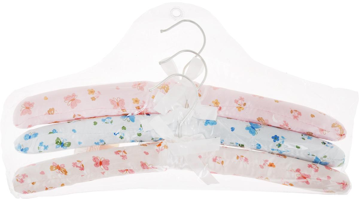 Набор вешалок для одежды Home Queen Цветы, цвет: голубой, розовый, белый, 3 шт57023Набор Home Queen Цветы состоит из трех вешалок, изготовленных из дерева и текстиля. Вешалки идеально подойдут для деликатной одежды из шерсти и нежных тканей. Набор Home Queen Цветы станет практичным и полезным в вашем гардеробе. С ним ваша одежда избежит ненужных растяжек и провисаний. Подходит также для сушки вещей после стирки. Комплектация: 3 шт. Размер вешалки: 38 х 3,5 х 11,5 см.