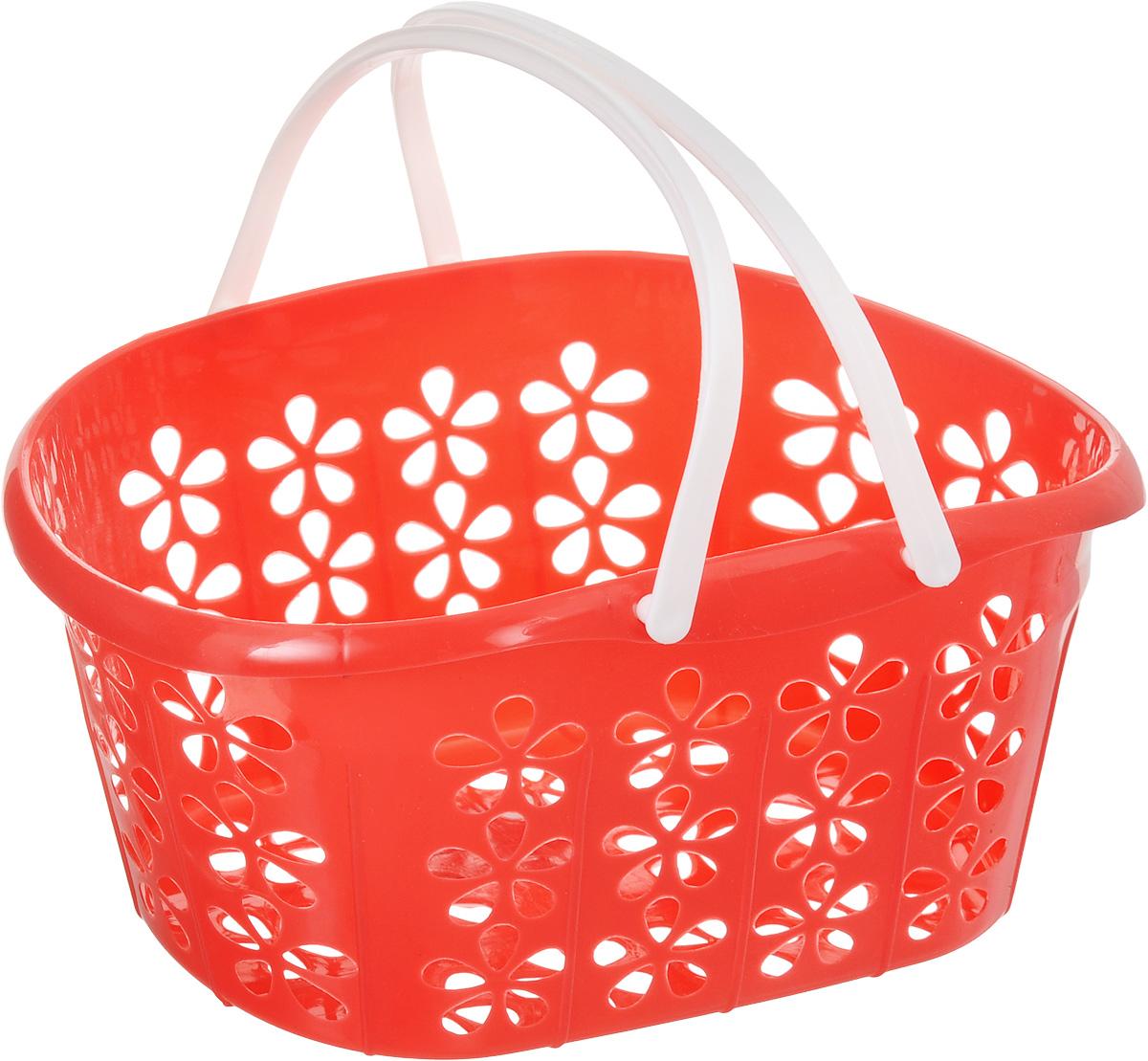 Корзинка Sima-land, с ручками, цвет: красный, 22,5 х 16,5 х 12 см139077_красныйКорзинка Sima-land, изготовленная из высококачественного прочного пластика, предназначена для хранения мелочей в ванной, на кухне, даче или гараже. Изделие оснащено двумя удобными складными ручками. Это легкая корзина с сетчатым дном, жесткой кромкой и небольшими отверстиями позволяет хранить вещи в одном месте, исключая возможность их потери. Сетчатое дно исключает скопление пыли и влаги на дне корзины.